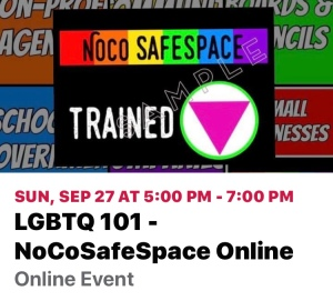 This NoCoSafeSpace LGBTQIA+ 101 training will be offered to the community as a virtual event. It's a beginner informational training for allies to understand and openly ask questions. The cost is $20/person, 50% of the proceeds will be donated to SPLASH LGBTQIA+ Youth. Payment should be made via Venmo to @nocosafespace to receive the zoom link. (Msg for PayPal instead) There is a separate 201 training for folks already exhibiting allyship who would like to dig deeper, on our events page!